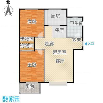 福美公馆100.00㎡A户型 两室两厅一卫户型2室2厅1卫