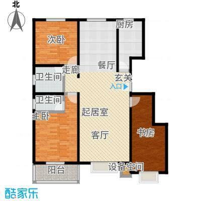 石家庄朱雀门115.57㎡3号楼a户型 三室两厅两卫户型3室2厅2卫