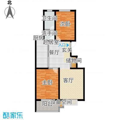 石家庄朱雀门90.06㎡4号楼a户型 两室两厅一卫户型2室2厅1卫