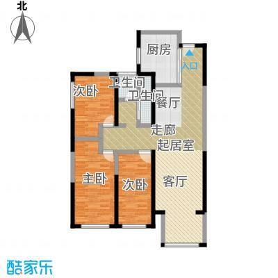 元氏天山水榭花都102.00㎡高层畅居三室两厅一卫户型3室2厅1卫