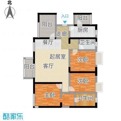 元氏天山水榭花都132.96㎡高层曦居三室两厅两卫户型3室2厅2卫