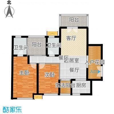 南沙境界藏峰115.00㎡H4-1栋、H5-2栋01单位户型2室2卫1厨