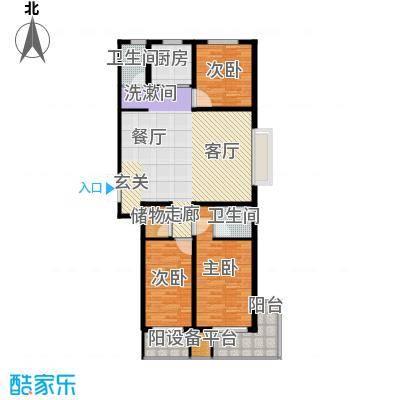 元氏盛世华庭123.65㎡3室2厅2卫户型3室2厅2卫