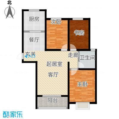 西原泓郡115.09㎡I户型3室2厅1卫户型3室2厅1卫