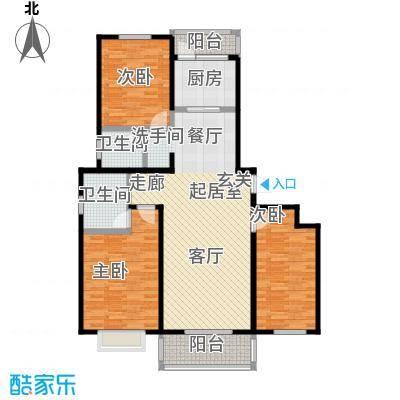 西原泓郡136.49㎡C1户型3室2厅2卫136.49平米户型3室2厅2卫