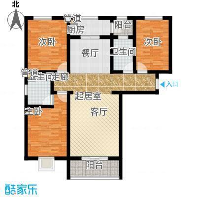 东龙府邸136.00㎡3室2厅2卫户型3室2厅2卫