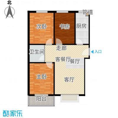 富达山庄户型3室1厅1卫1厨