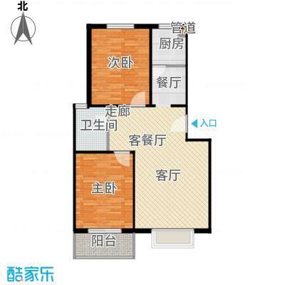富达山庄ewr户型2室1厅1卫1厨