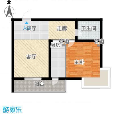 富水一方一室 79.09平方米户型