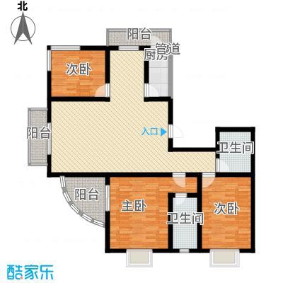 富水一方三室 158.58平方米户型