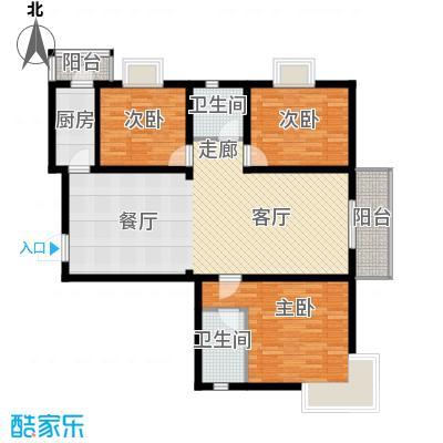 富水一方三室二厅二卫户型