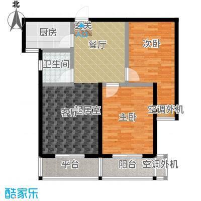 龙湾两室一厅一卫户型2室1厅1卫
