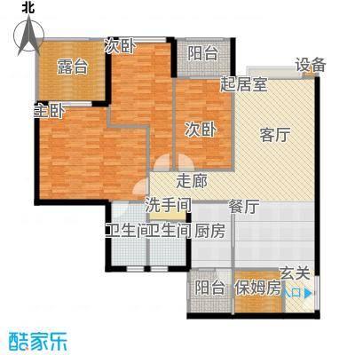 建发・天府鹭洲106.00㎡E2-2产权面积106平米实得156平米户型