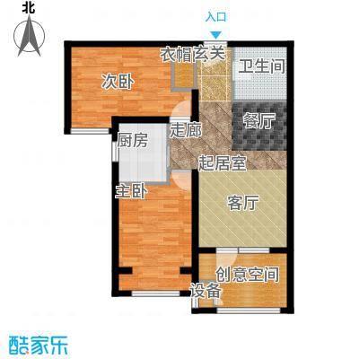 中铁秦皇半岛82.00㎡A2户型2室1卫1厨