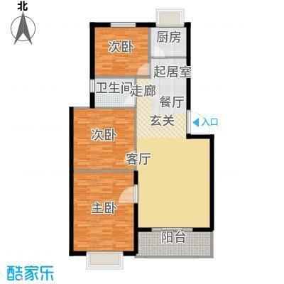 洪洲花园109.00㎡三室两厅户型3室2厅