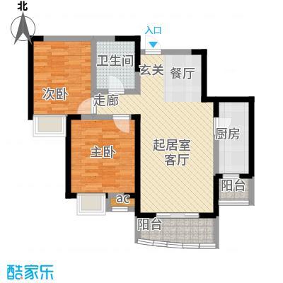 融科金月湾二房二厅户型
