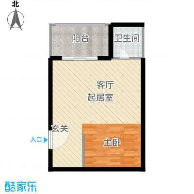 清凉盛景49.00㎡1室1厅1卫户型1室1厅1卫