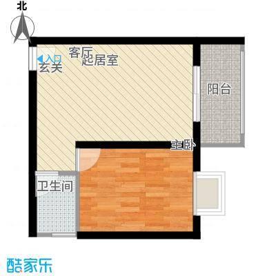 清凉盛景51.17㎡1室1厅1卫户型1室1厅1卫
