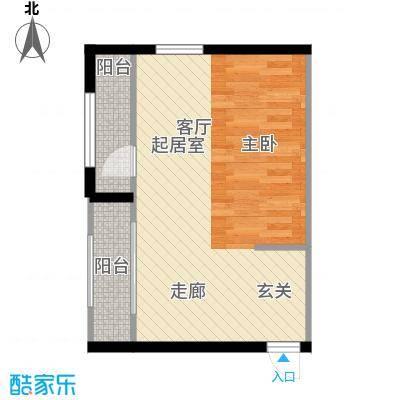 清凉盛景40.59㎡1室1厅1卫户型1室1厅1卫