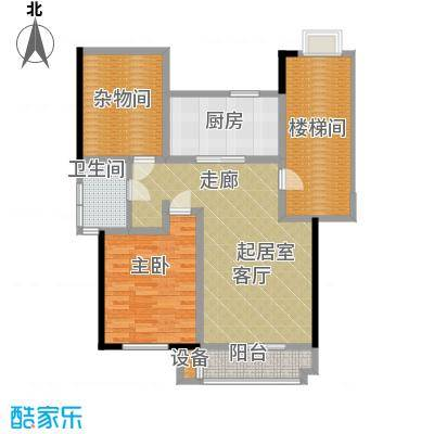 朝阳绿茵 朝阳上品一室一厅一卫 79.36-80.2平米户型