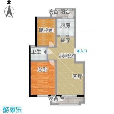 朝阳绿茵 朝阳上品一室一厅一卫 82.47-86.69平米户型