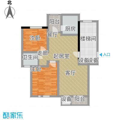 朝阳绿茵 朝阳上品80.00㎡房型: 二房; 面积段: 80 -100 平方米;户型
