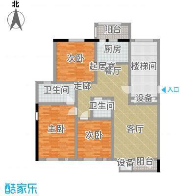 朝阳绿茵 朝阳上品120.00㎡房型: 三房; 面积段: 120 -140 平方米;户型