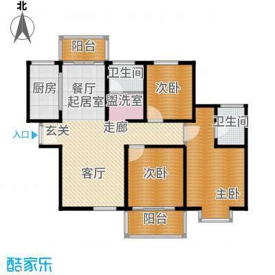 3室2厅2卫 129.92m²