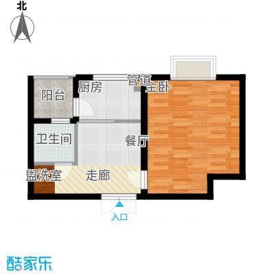 弘昌楚香苑47.00㎡16-A4户型1室1厅1卫