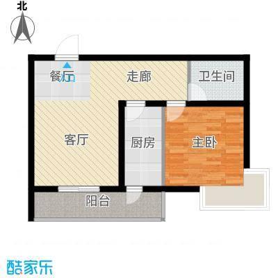 富水一方一室二厅一卫户型