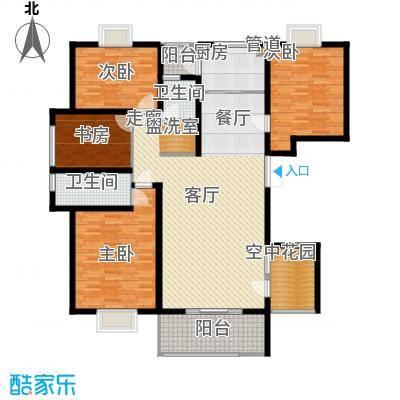 弘昌楚香苑156.00㎡16-A1户型4室2厅2卫