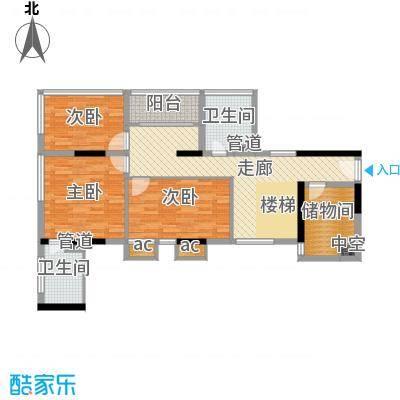 嘉路华花园215平方米四房两厅复式户型图(1)户型4室2厅2卫