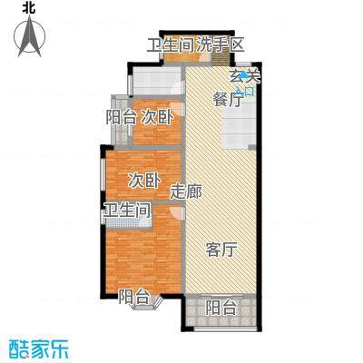 彩虹苑未命名户型3室1厅2卫1厨