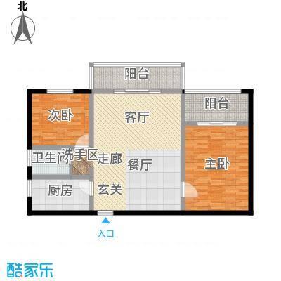 彩虹苑未命名户型2室1厅1卫1厨