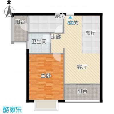 盛弘朗庭未命名户型1室1厅1卫1厨