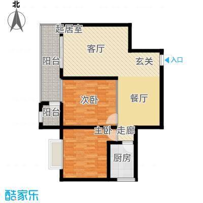 新贵华城三期91.30㎡两室两厅一卫户型