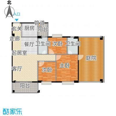 金朗华庭127.67-131.67平米户型2室2厅2卫