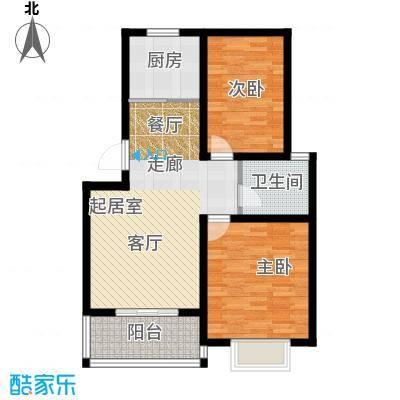 铭翔花园89.27㎡户型4 2室2厅1卫1厨户型