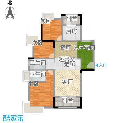 远洋城天祺121.00㎡26幢02户型3室2厅2卫