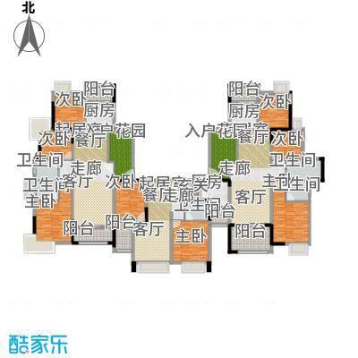 远洋城天祺285.80㎡25幢5-12层平层户型10室