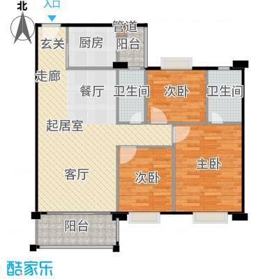 金朗华庭100.13-100.52平米户型3室2厅2卫