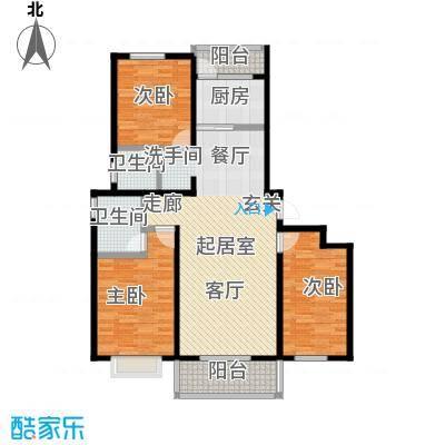 西原泓郡136.66㎡C户型3室2厅2卫户型2室2厅2卫
