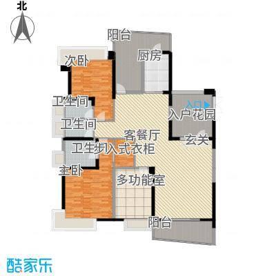 凯茵新城218.00㎡F型湖岸立墅(平层)户型2室2厅2卫