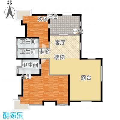 凯茵新城363.00㎡F型湖立别墅(复式二层)户型4室3厅4卫