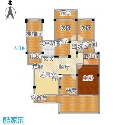 金上海湾5室2厅3卫户型