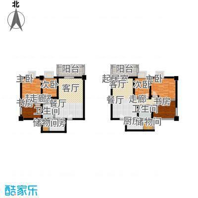 奇星御园120.00㎡3室2厅1卫1厨户型