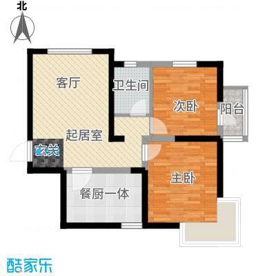 沽上江南89.43㎡高层E\'户型2室2厅1卫