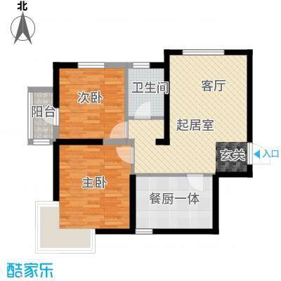 沽上江南89.43㎡高层E户型2室2厅1卫