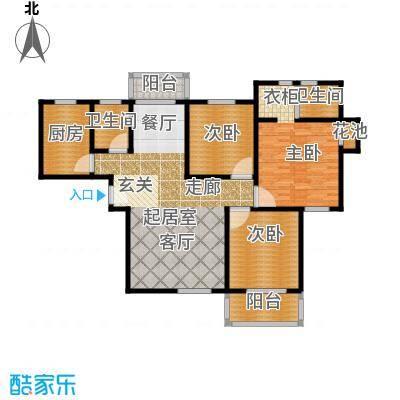 3室2厅2卫 124.45m²