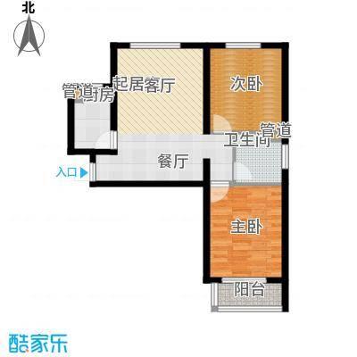 卓达太阳城91.39㎡1、7、10、11、12号楼户型2室2厅1卫